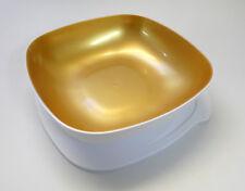 TUPPERWARE Allegra eckige Servierschüssel 2,5L mit Deckel, WEISS/GOLD