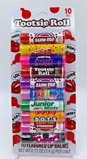 Tootsie Roll and other candy flavors 10 pack lip balm set