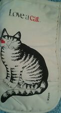 Vintage Kliban Cat Oven Mitt  B. Kliban Cat With Kiss Rare Vhtf Crazy Cat Lady