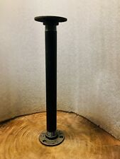 Industrial table legs x 4 made from industrial galvanised iron in black.