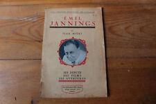 EMIL JANNINGS par jean MITRY - Ed. Jean Pascal 1927 - Cinéma, rare