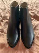Womens Black Leather Sol Sana Boots Size 38 Brand New Condition