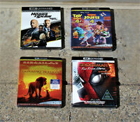 4K ULTRA HD BLURAY LOT: THE LION KING, TOY STORY 4, HOBBS & SHAW, SPIDER-MAN NEW