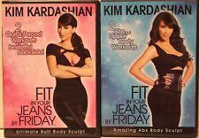 2 Kim Kardashian workout DVD lot Amazing Abs Body Sculpt ultimate Butt exercise
