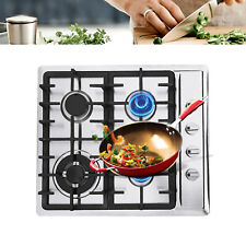 """23"""" 10Kg 4 Sealed Burners Stove Gas Cooktop Stainless Steel Built-in High Power"""