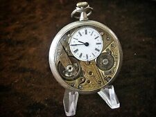 Outstanding Antique Silver Open Face VALOR Pocket Watch Brevet Engraved SWISS