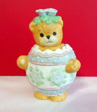 Lucy & Me Egg Shell Easter Spring Time Teddy Bear Enesco Figurine