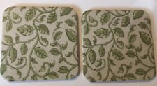Longaberger Coasters With Green Vines