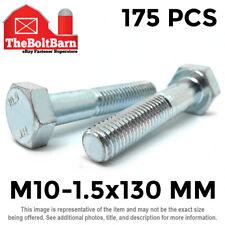 New listing 175 Pcs M10-1.5x120 Mm Hex Cap Screws Class 10.9 Metric Grade Hex Bolts Zinc