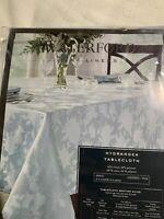 "New Beautiful Waterford Hydrangea Tablecloth Round 70"" Seats 4-6 , Machine Wash"