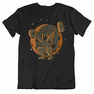 Men's Weightlifting Shirt - Weightlifting Astronaut Outer Space Spaceman T-Shirt