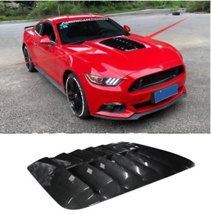FOR Ford Mustang GT500 Carbon Fiber Air Outlet Vent Car Engine Hood  Cover 15-20