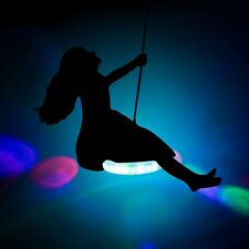 Flashing UFO Swing Seat - swing set, zip line, light up, LED, multi coloured, ga