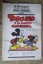 Topolino e la cassetta elettronica - supplemento  Messaggero - Walt Disney