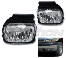 OE STYLE FOG LIGHTS PAIR CLEAR LAMPS + BULB FOR 03-06 CHEVY SILVERADO AVALANCHE