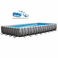 Intex 32' x 16' x 4.3' Ultra Frame Pool Set with Sand Filter Pump & Cleaning Kit