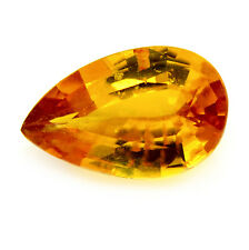 Lovely Certified 1.13ct Natural Ceylon Yellow Sapphire Pear SI Clarity Sri Lanka