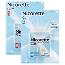 Nicorette Quit Smoking Aid 2 or 4mg, Original Flavor Gum 200 Pieces