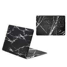 Black Marble Matte Hard Case + Vinyl Full Keyboard Decal Sticker for MacBook