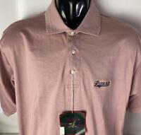 TITLEIST By Corbin Golf Polo Shirt NEW River Run Spellout Sz L Mauve PS-300