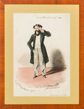 """""""Lord Dundreary by George Bridgman for Punch Magazine Watercolour"""" c1862"""