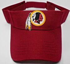 READ LISTING! Washington Redskins Heat Applied FLAT LOGO on Burg. visor cap hat