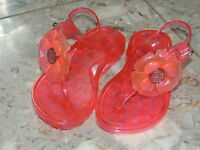 Toddler Girls Shoe Size 8 * GAP * Pink Flower Jelly Sandals Shoes NWT Jellies