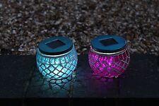 Set of 2 Solar Mosaik Garten Terrasse Lichter - Dekorativ Weg Tischlampen