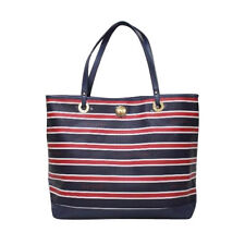 Tommy Hilfiger 6927870 467 Striped Tote Navy White Red Agsbeagle