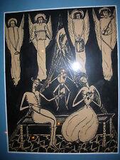 ARMAND SIMON dessin à l'encre 1924 monogrammé