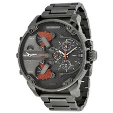 Diesel Men's Mr. Daddy 2.0 Black Ion-Plated Stainless Steel Analog Watch DZ7315
