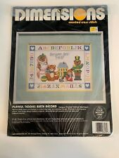 New listing Dimensions Counted Cross Stitch Playful Teddies Birth Record Kit Unopened Nip