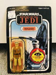 Vintage Star Wars Rebel Soldier 77 Back Carded Moc Anakin Offer