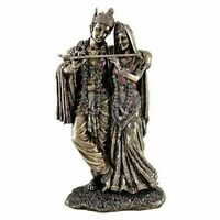 Hindu God Lord Krishna Kanha Radha Idol Sculpture Statue Figurine