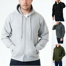 Mens Zip Up Hoodie Fleece Sweatshirt Hoody Plain Pullover Zipped Hooded S-5XL