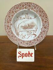 Antique Copeland CAIRO Aesthetic Transferware Brown Large Rim Soup Bowl
