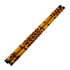Long Bamboo Flute Clarinet Student Musical Instrument 7 Hole 42.5cm EV
