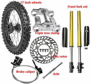 "17"" Front 70/100-17 Tire Rim Wheel + Brake Assembly+ Front Forks for YZ85 CR85"