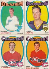 1971-72  O PEE CHEE  lot of 4 DIFFERENTS CARDS  near mint