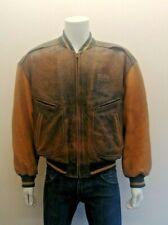 Hugo Boss Original 1980s Bomber / Varsity Style 100% Quality Leather Jacket