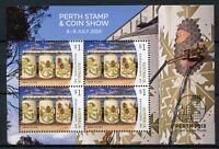 Australia 2018 MNH Silo Art Amok Island Perth Stamp Coin Show 4v M/S Art Stamps