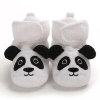 Unisex Baby Cozy Fleece Booties Cute Panda Design Newborn Shoes Toddler Footwear