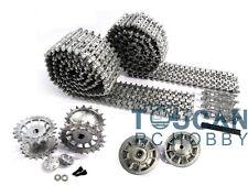 Mato 1/16 HengLong Tiger I Tank Silver Metal Tracks Sprockets Idler Wheels MT001