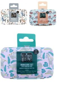 DANIELLE CREATIONS LLAMA SLOTH 7 PIECE MANICURE SET WITH CASE FREE DELIVERY