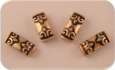 2 Hole Beads Fleur de Lis Spacer Bars ~ Copper Plated Metal ~ Sliders QTY 4