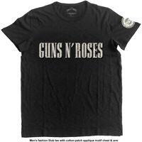 GUNS N ROSES Logo Bullet Circle Mens T Shirt Unisex Tee Official Licensed Merch