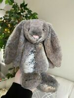 "JELLYCAT 11"" Plush BASHFUL BUNNY Woodland Rabbit Pink Nose Baby Medium Brown"