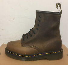 DR. MARTENS 1460  TAN YOWZA  LEATHER  BOOTS SIZE UK 8