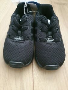 Adidas Baby ZX Flux Trainers Size 4 Black