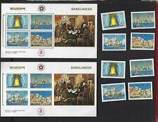 Bangladesh sc#111-14 #114a Souvenir Sheet (1976) Complete MNH  Perf & Imperf